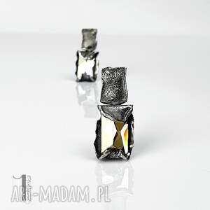 cubic - srebrne kolczyki swarovski - metaloplastyka srebro, kolczyki sztyfty