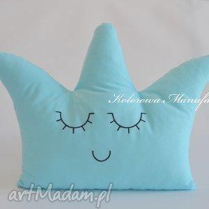 Poduszka uśmiechnięta korona, poduszka dekoracyjna, poduszka, dekoracje