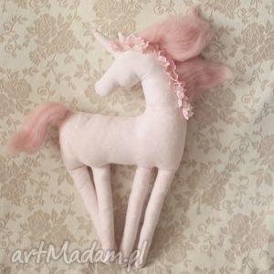 bajkowy jednorożec - różany, jednorożec, romantyczny, koń, konik, dekoracja, poduszka