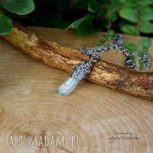 hand made wisiorki wisiorek talizman kwarc tytanowy aura stal chirurgiczna wire wrapping