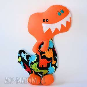 dinozaur t - rex krzyś - 42 cm, dinozaur, chłopczyk, maskotka, zabawka