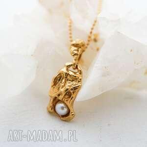 wiosiorek z perłą, pozłocony kolekcji ślad dostępny na zamówienie, złocony