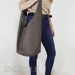 long boogi bag - torba w stylu boho do noszenia przez ramię, brązowa