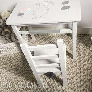 hand-made pokoik dziecka stolik i krzesełko maluch szary królik