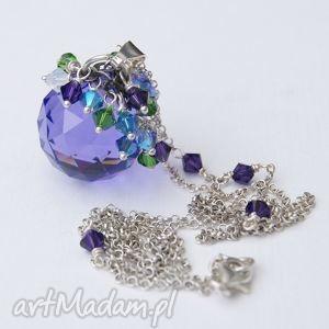 Magic Ball, naszyjnik - ,wisiore,naszyjnik,biżuteria,swarovski,kula,srebro,