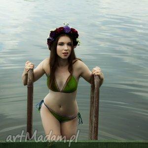 dobrzykowska kostium kąpielowy santorini w kolorze zielonym szydełkowy