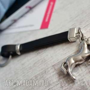 skórzany brelok do kluczy horse black, kluczy, brelok, koń