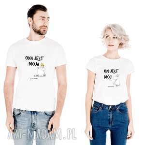 ręczne wykonanie koszulki zestaw koszulek dla par niej, niego ona jest moja