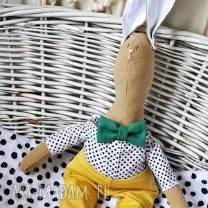 maskotki pan królik z imieniem, prezent, inny, nietuzinkowy, dzień, dziecka, chłopca