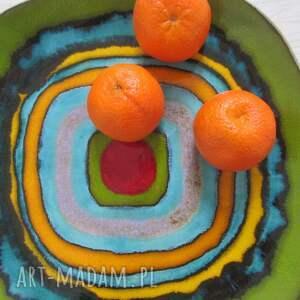 talerz ceramiczny power color, dekoracyjna patera, patera ceramiczna