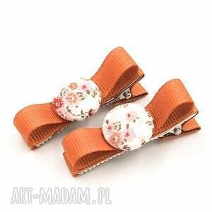 ozdoby do włosów spinki z guziczkiem florence pink