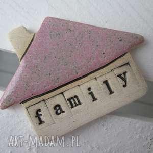 magnes domek family, domek, ceramiczny, magnes, dekoracja, rodzina