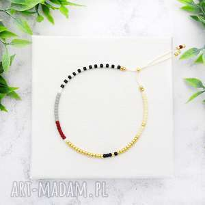 minimal dots - burgund and cream, bransoletki, koralikowe, minimalistyczne