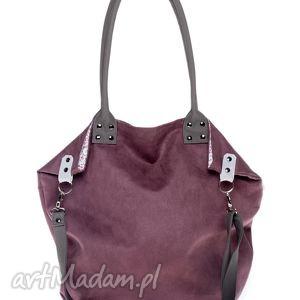 ręcznie zrobione na ramię torba worek marsala