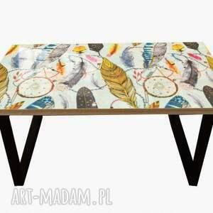 stoły colorfull feathers-nowoczesny stolik loft kawowy do salonu, loftowy