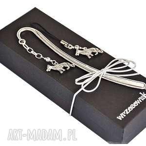 zakładki zestaw prezentowy - wilki, zakładka, prezentowy, wilk, zawieszka