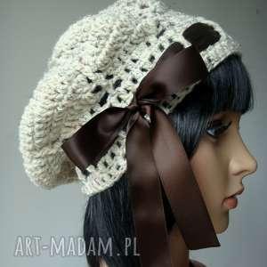hand made czapki melanżowy beret