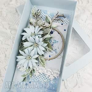 scrapbooking kartki kartka w błękicie - pudełku, urodziny, gratulacje