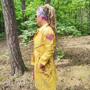 ręcznie wykonane płaszcze płaszcz damski kolorowy bawelniany l pacha-pacha 54