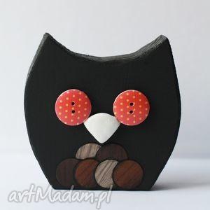 ceramika sowa czarna, sowa, ptak, dom, czarny, drewno, sówka