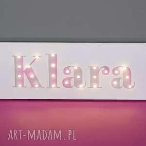 Prezent Neon obraz LED z imieniem pastelowy ombre personalizowany dekoracja napis