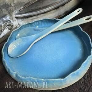 duży talerz-patera ceramiczna, ceramika artystyczna, rękodzieło