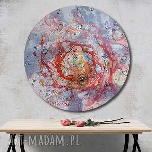 krajobraz księżycowy 28, księżyc, abstrakcja, semeniuk, tondo, ziemia, planeta