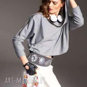 spodnie natasza 7700, nowoczesne, asymetryczne, wężane