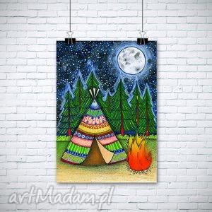 święta, pokoik dziecka tipi a3, tipi, namiot, księżyc