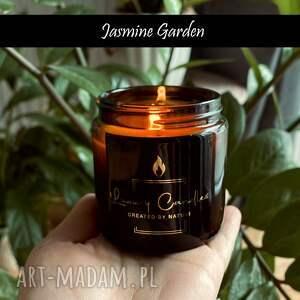 hand-made szaliki naturalna świeca sojowa - jaśminowy ogród 120
