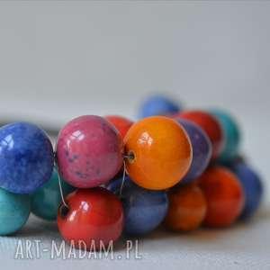 naszyjniki naszyjnik z korali ceramicznych, korale, naszyjnik, wiosenny, letni