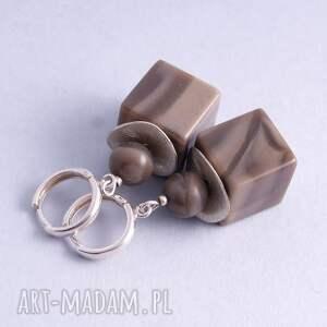 Cube kolczyki - Ręczne wykonanie