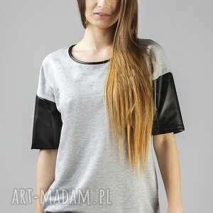 bluzki bluzka inga 2, dresówka, wygodna, elegancka, skóra, ekologiczna, dres