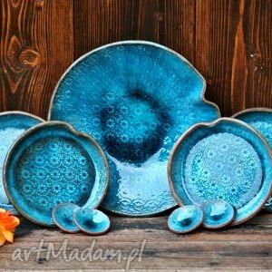 ceramika ceramiczne naczynia ocean, naczynia, zestaw, talerz, misa, fusetka