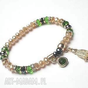 kolekcja rich boho -greenery /24 03 17/, kryształki, metal