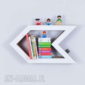 Półka na książki zabawki STRZAŁKA ecoono   biały, półka, chłopiec, dziewczynka