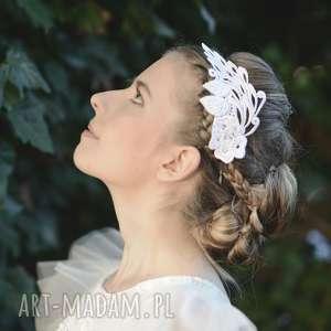 handmade ozdoby do włosów opaska koronkowa