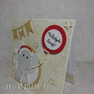 Świąteczny słonik na szczęście w nowym roku - święta