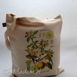 torba jabłóń - płócienna, bawełna, natura, roślina, jabłko, nadruk, prezent torebki