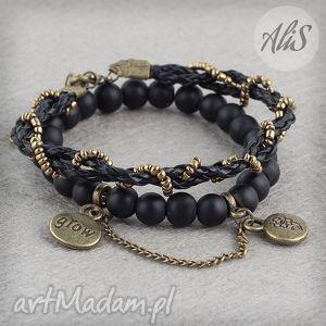 Matowa czerń - ,matowy,czarny,stare,złoto,łańcuszek,rock,
