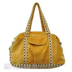 na ramię 07-0007 żółta torebka sportowa / torba fitness pigeon, duża-torebka-damska