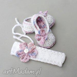 buciki zamówienie p justyny, opaska, buciki, baleriny, dziewczynka, niemowlę