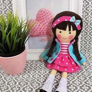 hand-made lalki malowana lala melania w czekoladowych włosach