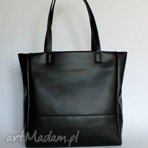 Prezent shopper bag - czarna, elegancka, nowoczesna, prezent, pakowna, wygodna
