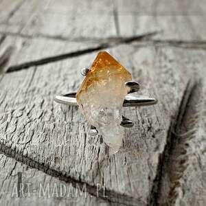 lemon ii-srebrny pierścionek z cytrynem, srebrny, cytryn, kwarc