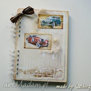 handmade notesy notes/pamiętnik retro car
