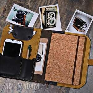 handmade etui organizer, notes, kalendarz, idealny prezent, skórzany planer, notatnik, etui navahoclothing