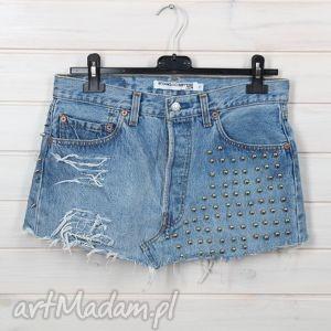 spódniczka z ćwiekami denim, spódniczka, jeans, napy, ćwieki, rock