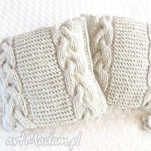 handmade poduszki poduszki robione ręcznie wełna 40x40 cm 2szt