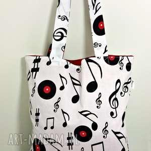 torba na zakupy ekologiczna shopperka muzyczna - torba, torba na zakupy, shopperka, muzyka